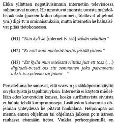 Nuoret ja digi-tv:n mahdollisuudet TEKES:in raportissa v. ????