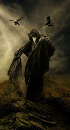 Crows and Plague Docs by angeliczombi.deviantart.com on @DeviantArt