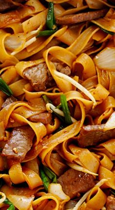 Beef Chow Fun -http://www.gimmesomeoven.com/beef-chow-fun-beef-noodles-stir-fry/.