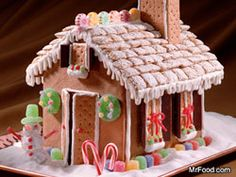 Chex for roof and bring extra graham crackers for kids that want to add doors or chimneys