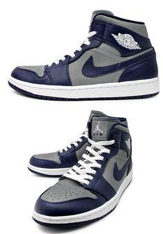 """2013 Air Jordan """"Georgetown"""" 1 Sneaker (Detailed Look)"""