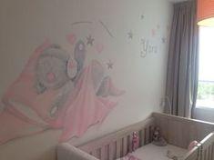 Muurschildering me to you beer gemaakt door www.vrolijkemuur.nl Nursery Wall Art, Girl Nursery, Girl Room, Baby Bedroom, Kids Bedroom, Bedroom Decor, Murals For Kids, Tatty Teddy, Kids Decor
