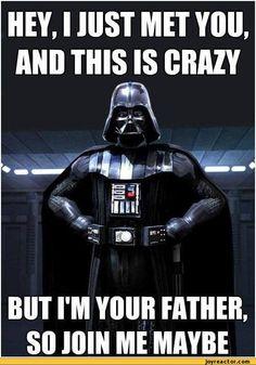 Call me Maybe Parody Star Wars Darth Vader Remix Star Wars Film, Star Wars Meme, Star Trek, Funny Star Wars Quotes, Call Me Maybe, Happy Birthday Meme, Birthday Wishes, Birthday Greetings, Birthday Funnies