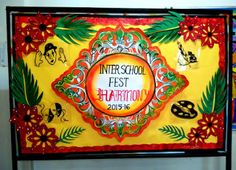 Art ,Craft ideas and bulletin boards for elementary schools: Inter School Fest Bulletin Board