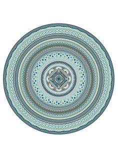 Blue Mandala by Tony Bamber, via Behance
