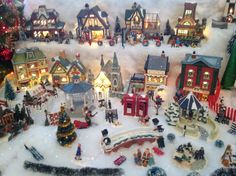 Two tier Christmas village