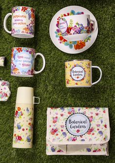 Botanical Garden Collection - designs available on Coolbag, Bone China #Mugs, Cappuccino #Cup & Saucer, Vacuum Flask, Enamel Mug and many more items! #ceramics #giftware #BotanicalGarden