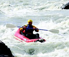 Inflatable kayaking is a great introduction for first-time whitewater kayakers in Alaska.