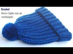 Gorro tejido a crochet a partir de un rectángulo. Video tutorial con el paso a paso para tejerlo. Easy Crochet Hat Patterns, Crochet Hat Tutorial, Love Crochet, Knitting Patterns Free, Crochet Baby, Knit Crochet, Knitted Booties, Knitted Hats, Ponytail Hat Knitting Pattern