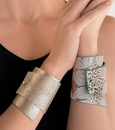 Leather+Cuff by Ealish+Wilson: Leather+Cuff available at www.artfulhome.com