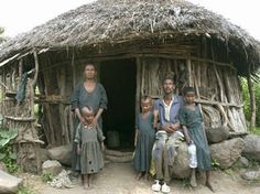 Falasha: Ethiopian Jewish family in Ethiopia