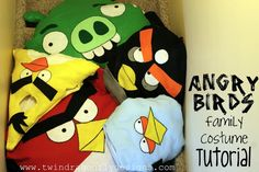 Hi everyone!! I freaking love how these costumes turned out. I have been working very hard to bring you the complete tutorial before Halloween this year so that perhaps you can make your very own. Click here for many, many more Angry Bird Costume photos! If you are just visiting please follow along via GFC …