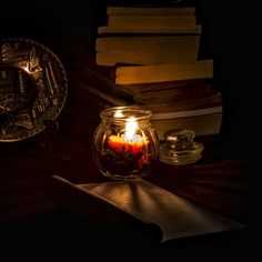 When the night comes, with my books