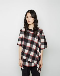 3.1 PHILLIP LIM | Asymmetrical Flannel Top | Shop at La Garçonne