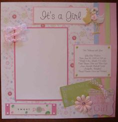baby girl scrapbook layouts | Product Front)