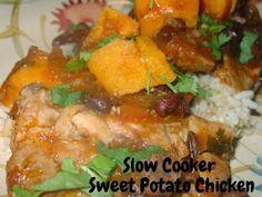 The Fresh Plate: Slow Cooker Sweet Potato Black Bean Chicken