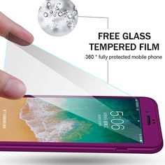 360 Full Coverage Case with Tempered Glass For Iphone Iphone 5s, Iphone 8 Plus, Apple Iphone, Coque Iphone, Iphone Cases, Free Mobile Phone, Smartphone, Iphone Models, Tempered Glass Screen Protector