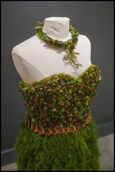 botanical dress for Divine Design Boutique, detail  - photo: Ted Mishima
