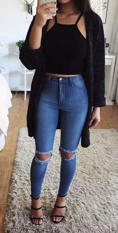 Casual Juvenil Casual Outfits - Casual Summer Outfits for Work Adrette Outfits, Dressy Casual Outfits, Summer Dress Outfits, Teen Fashion Outfits, Basic Outfits, Casual Summer Dresses, Stylish Outfits, Hijab Casual, Casual Jeans