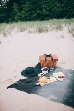 Beach picnic. Just keep that sand away from the good stuff. Somehow it always ends up in a bite or two.