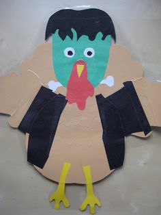 Pink and Green Mama: * Fall Art Project: Turkeys In Disguise