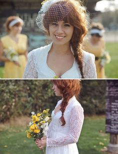 One of the most gorgeous brides I've run across.  What a stunning mix of natural, vintage and glamour.
