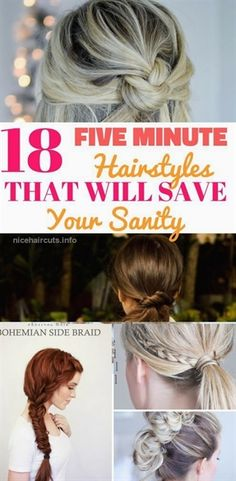 Five minute hairstyles that will make you look polished anytime. Easy step by st., Summer Hairstyles, Five minute hairstyles that will make you look polished anytime. Easy step by step tutorials for the busy mornings when you are running late. Five Minute Hairstyles, Step By Step Hairstyles, Work Hairstyles, Easy Hairstyles For Long Hair, Fringe Hairstyles, Feathered Hairstyles, Easy Morning Hairstyles, Running Late Hairstyles, Trendy Hairstyles