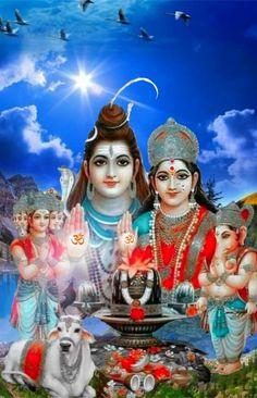 Navratri Puja, Durga Images, Lord Shiva Family, Radha Krishna Wallpaper, Divine Mother, Shiva Shakti, Durga Goddess, Ganesh, Om