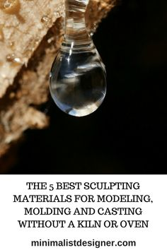 The 5 best sculpting materials for modeling, molding and casting without a kiln or oven Porcelain Clay, Cold Porcelain, Resin Uses, Plasticine, Paper Clay, Air Dry Clay, Art Techniques, Art Decor, Sculpting