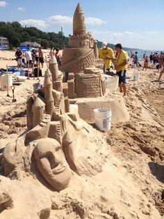 Castles of sand on the beach!