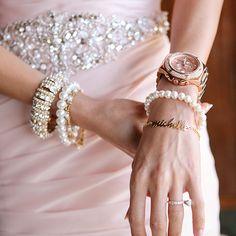 Bridal jewelry at a Four Seasons Resort Bali at Jimbaran Bay wedding