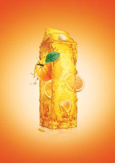 Natural Juice by Ibrahem Ashour, via Behance
