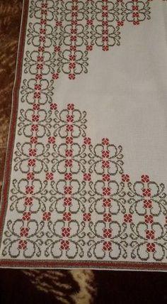 Cross Stitch Borders, Cross Stitch Flowers, Cross Stitch Designs, Cross Stitching, Cross Stitch Patterns, Hand Embroidery Design Patterns, Flower Embroidery Designs, Ribbon Embroidery, Cross Stitch Embroidery