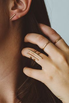 The perfect stack. Shop the look at AdmiralRow.com Jewelry | Rings | Gold