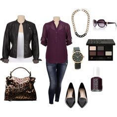 """""""Call Me Queen Bee- Plus Size Outfit"""" Super cute on any size weekend wear;-)"""