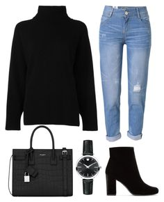 """Smart Casual"" by misunteah on Polyvore featuring Emporio Armani, Yves Saint Laurent, WithChic and Movado"