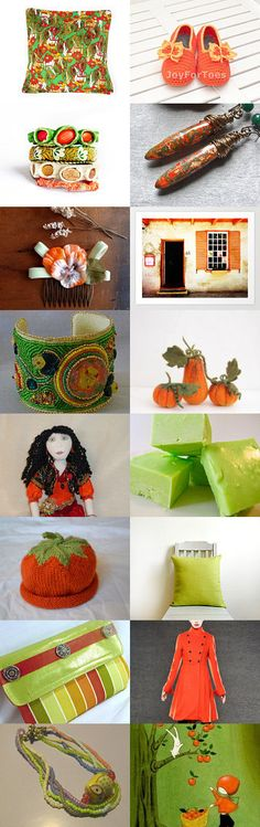 Pumpkins and Green Apples by Deb on Etsy--Pinned with TreasuryPin.com #septemberfinds