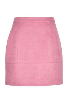 For a pop of colour against the neutral palette of winter, grab this suede A line skirt in pink. With front panel detail, super soft finish and always on trend A line shape, wear with a polo neck jumper, floppy hat and knee high boots for retro vibes.