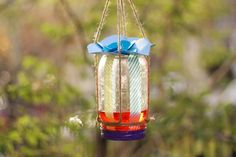 #Upcycle an old mason jar into a butterfly feeder!