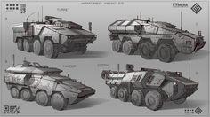 ArtStation - Vehicle Sketch, Min Nguen