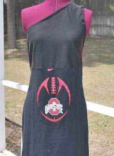 4796a227d74 Ohio State Game DayOne Shoulder Dress Upcycled T-Shirts Large Ready to Ship