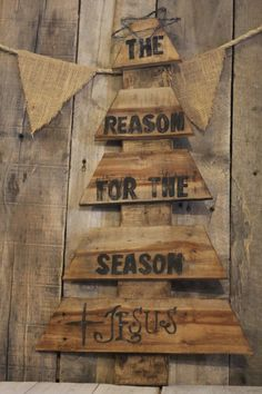 Reclaimed Wood Pallet Christmas Tree  Winter by LittleRedHenAndCo, $30.00