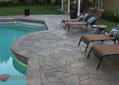 These Pool Deck Pavers Exude The Style And Flair Of Natural Flagstone With Strength