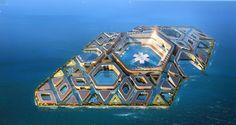 Inspirati probabil de Jules Verne dar si de cresterea nivelului marii , o firma de cosntructii din China a anuntat posibilitatea ca va incepe in curand testele la constructia unui oras modular direct in mare.