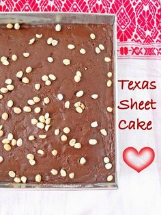Texas Sheet Cake; An easy one bowl cake with chocolate fudge icing....made from scratch!