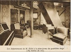 Gustave Eiffel's apartment in the Eiffel Tower, Paris, France. Gustave Eiffel, Tower Apartment, Penthouse Apartment, Parisian Apartment, Construction Images, Under Construction, Appartement Tour Eiffel, Empire State, Torre Eiffel Paris