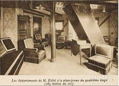 Rare:Rdv chez M.#Eiffel ds ses appartements,4e étage (1910) Permalien de l'image intégrée