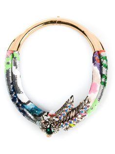 """Shourouk collier plastron en cristal """"Aigrette"""""""