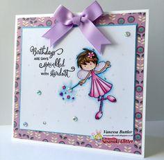 Sasayaki Glitter/ digi stamp/ Polychromos pencils/ Ness Butler/