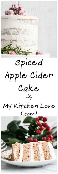 Spiced Apple Cider Cake with Frosted Cranberries   My Kitchen Love
